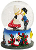 Dutch Boy & Girl Kissing Snow Globe, 3.5 H