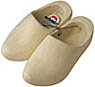 Plain Wooden Clog Shoes, Adult's Size 10-11