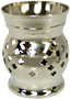 Indian Brass Aroma Oil Burner, 3-1/2H