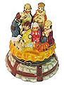Nativity Scene with The Three Wise Men - Porcelain Trinket Box