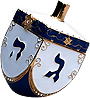 Jewish Hanukkah - Jeweled Dreidel Trinket Box