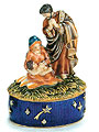 Nativity Scene Jeweled Trinket Box