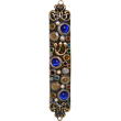 Jewish Mezuzah - Jeweled Cat Eye Design