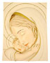 9  My Warmth Mother and Child Plaque (Gold)