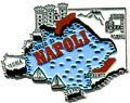 Naples, Italy Souvenir Fridge Magnet - Rubber