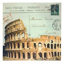 Italy Souvenir Colosseum Canvas Print - 12  Square