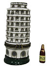 Tower of Pisa Miniature Trinket Box - 3.5H