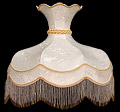 Lamp Shade, 21 D Round Cream-Color Shade with Beads