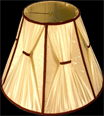 Lamp Shade - 16 D Round Cream-Color Shade with Brown Trim