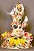 Italian Capodimonte Flowers - 15  Flower Branch w/ Doves