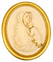 13.5  Madonna/Street Plaque (Gold)