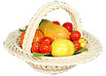 9  Fruit Basket w/Handle