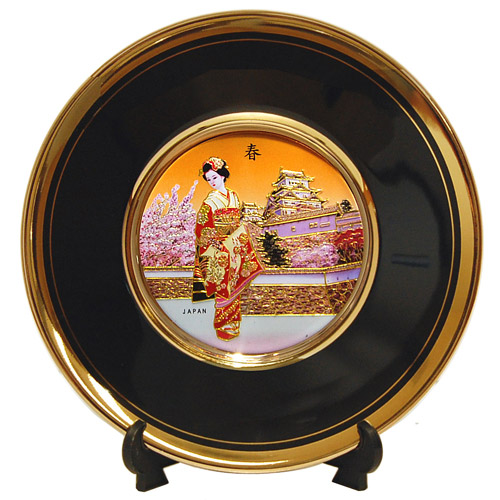 Japan Scenery 6 Quot Black Chokin Plate