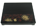 Blooming Peonies Bento Box with Footed Cover, 12 x10