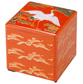 3 Tier Red Stack Lacquer Box, Longevity, 7-3/4SQ