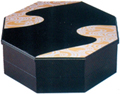 2-Tier Lacquer Octagon Tray Set, 13.5 D
