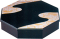 1-Tier Lacquer Octagon Tray Set, 13.5D