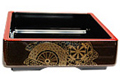 Sushi Serving Box, Wheel Motif 8 SQ