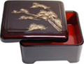 Bento Box with Lid - Pine Tree , 6.5 x5.5