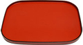 Japanese Small Rectangular Red Lacquer Tray, 12 x 9