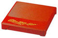 1-Tier Lacquer Box with Footed cover, 10-1/2 SQ