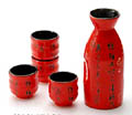 Poem Sake Set - 1&4, Red