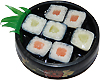 Round Sushi Magnet- Plate Two