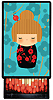 Kokeshi Doll Little Lacquer Slide Box