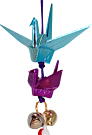 Cranes, Japanese Lucky Charm - Blue & Purple