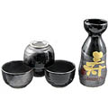 Sake Set - 1&4, Longevity in Black
