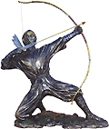 Ninja Sculpture - Shooting An Arrow 9.5 x8