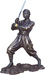 Ninja in Action Figurine, 9.25H