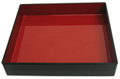 Japanses Tray, Black Box w/ Red Interior, 13  x 11