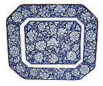 13  Serving Plate, Blue Peony