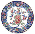 15 Dia. Serving Plate, Red Peony