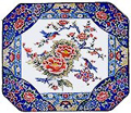 13  Rect. Serving Plate, Peony
