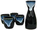 Sake Set - 1&4, Black & Blue