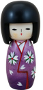 Lady in Purple, Kokeshi Doll 5.2 H