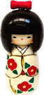 Kokeshi Doll, Red Ribon, 5.8 H