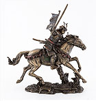 9.5 Samurai Warrior Figurine on Horse w/ Sword