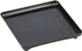 14.5  Square Black Lacquer Tray - With footed base