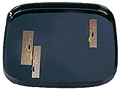 Japanese Black Lacquer Square Tray - Cranes, 10.5 L
