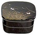 Bento Box, 2-Tray Black Butterfly 6