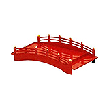 Red Lacquer Sushi Bridge, 17 X 8.5
