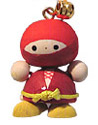 Wooden Lucky Charm, Ninja - Red
