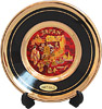 Chokin Plate of Japanese Icon & Map, Black 4D