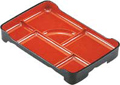 Lunch Plate, Large Red Bento Tray, 14x9.25