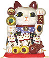 White Color Maneki Neko Super Lucky Cat Family, 7