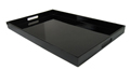 Black Serving Tray w/ Handles, 19 x12