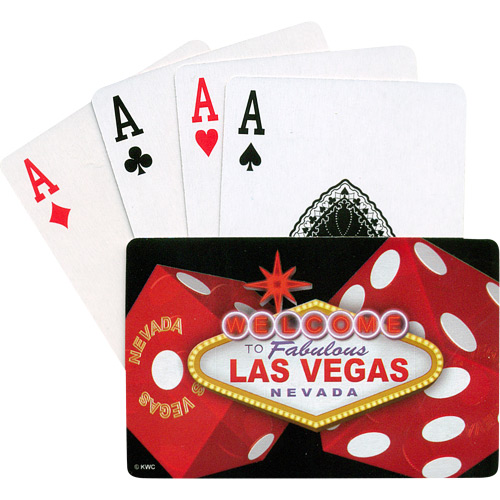 Las Vegas Playing Cards Two Large Red Dice On Each Side